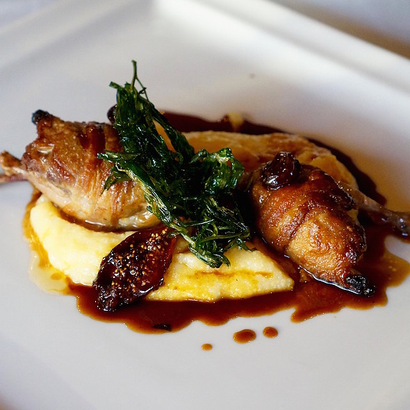Quagliette Arrosto – wood roasted quail, polenta with quartirolo, figs, cherries, saba - Coco Pazzo, Chicago, IL