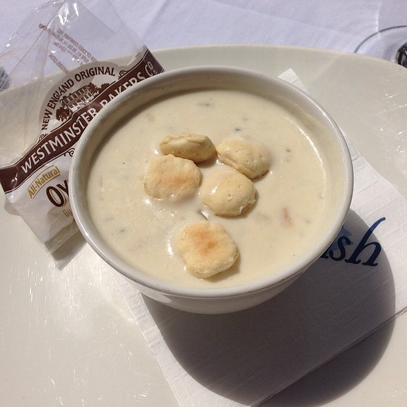 Award Winning New England Clam Chowder - Atlantic Fish, Boston, MA