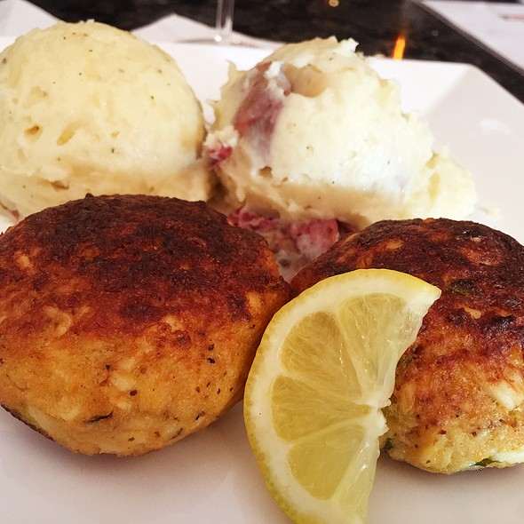 Crab Cakes With Red Mashed Potatoes - The Society Restaurant & Lounge, Silver Spring, MD