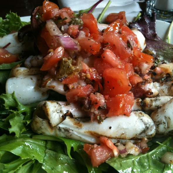 Grilled Calamari Salad - Dimmi Bar and Trattoria, Toronto, ON