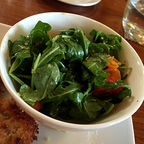 Arugula Salad with Lemon Dressing - Print Works Bistro, Greensboro, NC