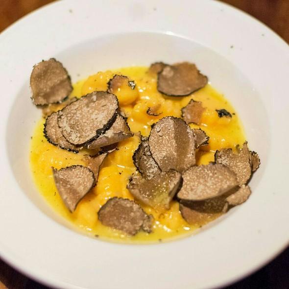 Potato Gnocchi with Umbrian Black Truffle - Mele E Pere, London