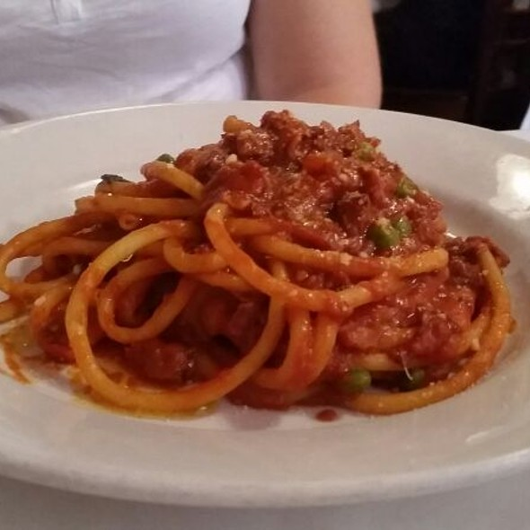 Bucatini All'Amatriciana - Trattoria di Monica, Boston, MA