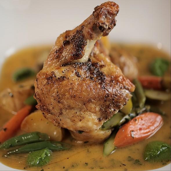 Lemon Thyme Brined Chicken - La Caille Restaurant, Sandy, UT