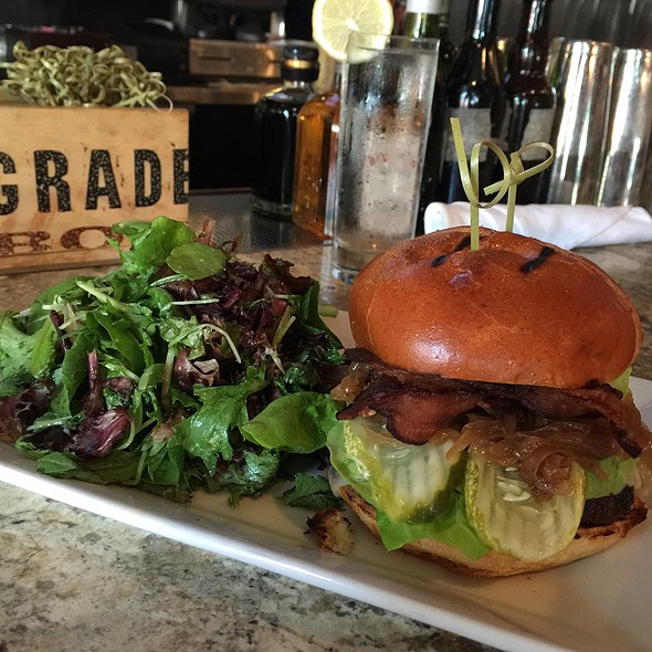 Grass Fed Beef Burger - Areal Restaurant, Santa Monica, CA