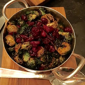 Fried Brussel Sprouts, Chili-Lemon, Cranberry - The Back Room at One57, New York, NY