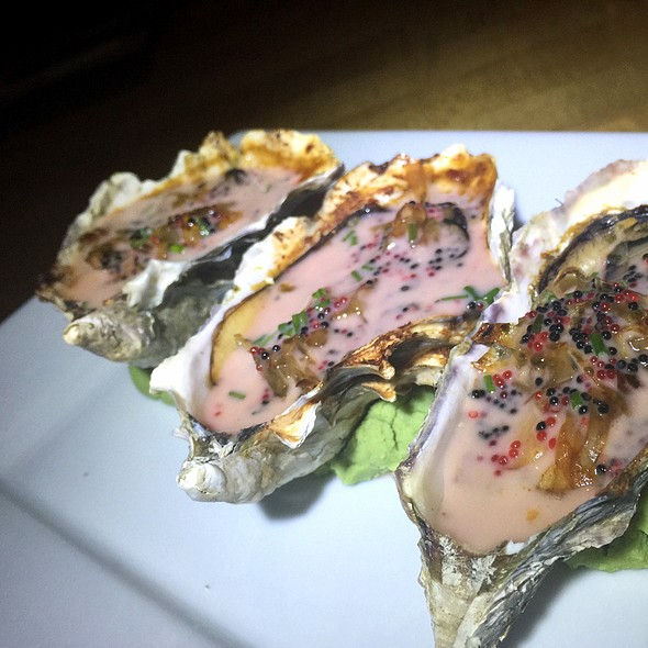 Fire Roasted Fanny Bay Oysters - Cafe Japengo, San Diego, CA