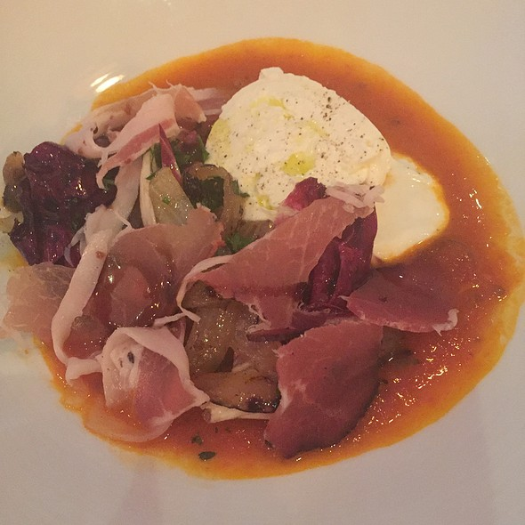 Smoked Tomato Soup With Burrata - Petruce Et Al, Philadelphia, PA
