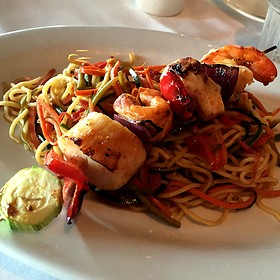 Seafood kabob - Pacifica Seafood Restaurant, Palm Desert, CA