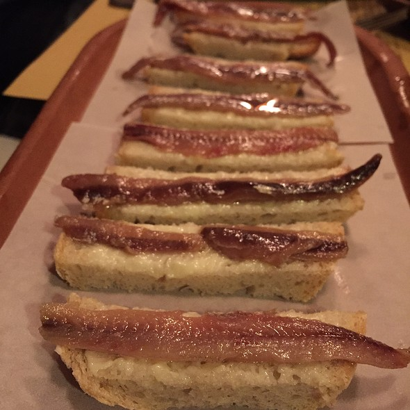 Alici E Burro House Marinated Anchovies, Served With Butter On Fresh Tuscan Bread - Locanda Vini e Olii, Brooklyn, NY