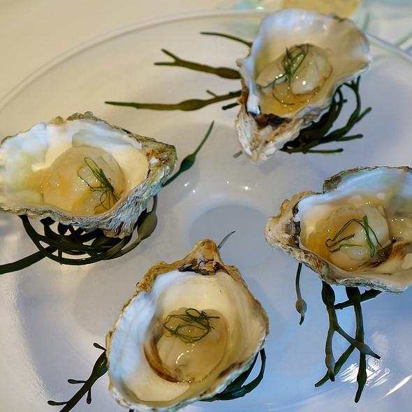 Kusshi oysters, onion gelée - Herons, Cary, NC