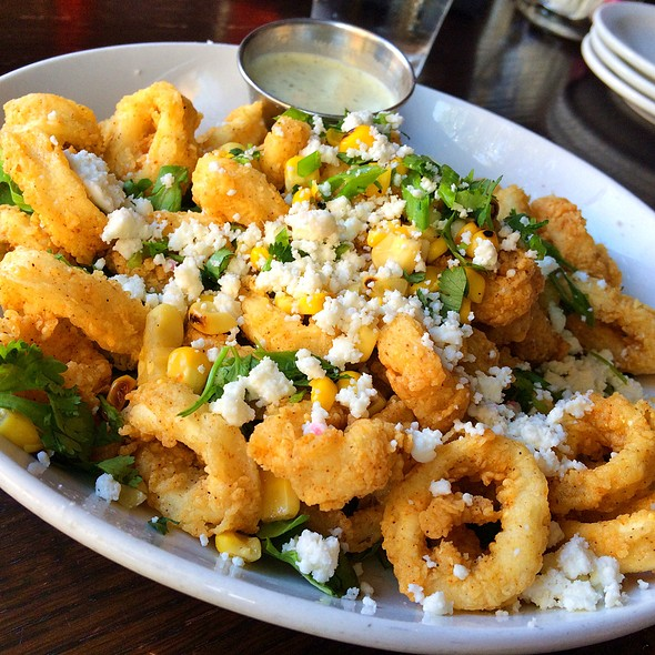 Fried Calamari With Roasted Corn - HUB Restaurant & Ice Creamery, Tucson, AZ