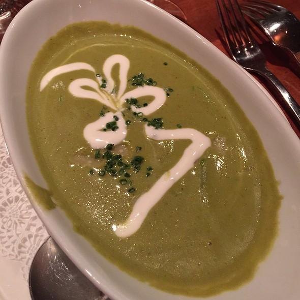 Artichoke + Asparagus Soup - Rick Moonen's RM Seafood, Las Vegas, NV