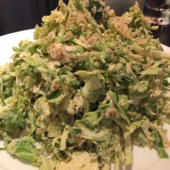 Shredded Brussels sprouts salad, avocado, lemon vinaigrette, bread crumbs - RPM Italian, Chicago, IL