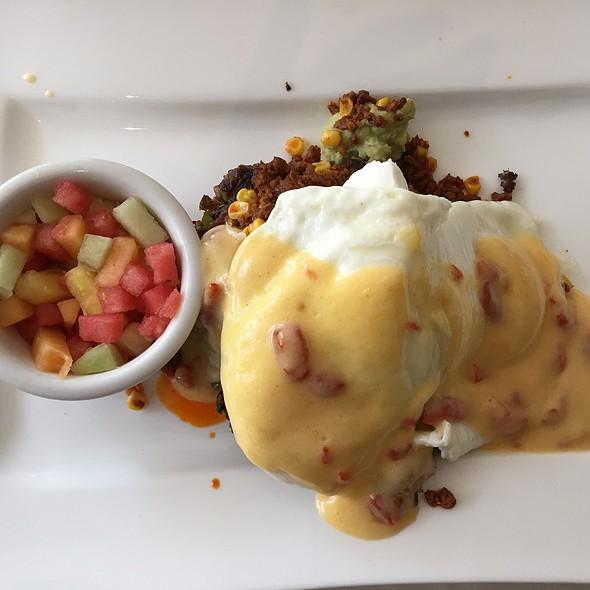 Chorizo Eggs Benedict - Museum Cafe, Oklahoma City, OK