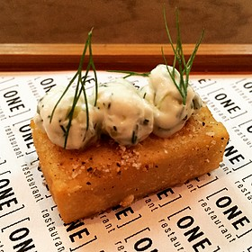 Chickpea Panisse - One Restaurant - Chapel Hill, Chapel Hill, NC