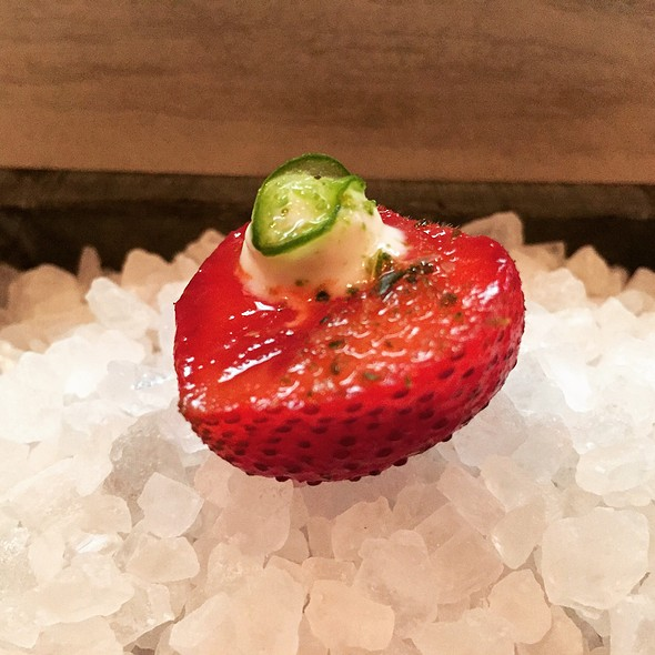 Strawberry Preserved In Bitters - One Restaurant - Chapel Hill, Chapel Hill, NC