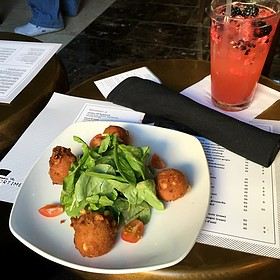 Fresh Corn And Goat Cheese Fritters - The Mortimer Bar & Lounge at the Hotel Adagio, San Francisco, CA