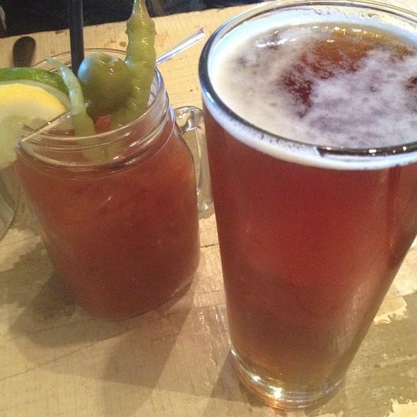 Bloody Mary & Saratoga Lager - Boca Bistro, Saratoga Springs, NY