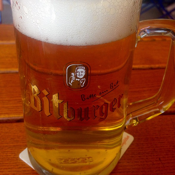 Bitburger Beer - Chalet Edelweiss, Los Angeles, CA