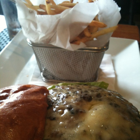 Chesseburger With Havarti And Fries - OPAH Restaurant & Bar @ Town Center Aliso Viejo, Aliso Viejo, CA