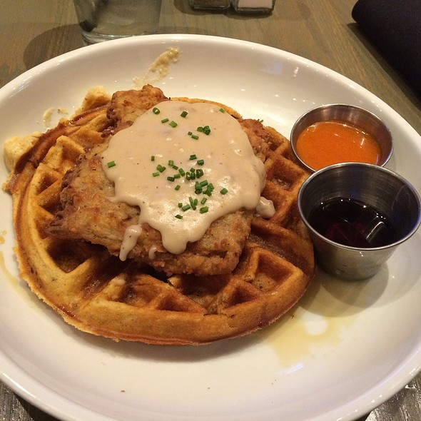 Country Fried Steak And Waffle - Ms. Rose's, Charleston, SC