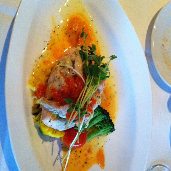 Stuffed B.C. Salmon - Top of Vancouver Revolving Restaurant, Vancouver, BC