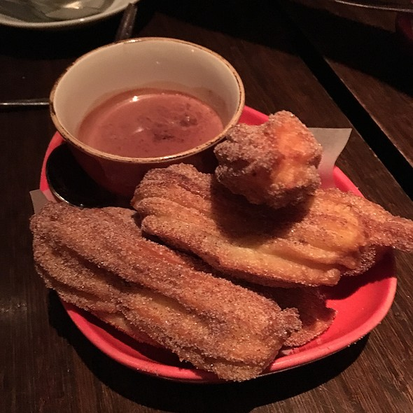 Churros con Chocolate - Canela Bistro & Wine Bar, San Francisco, CA