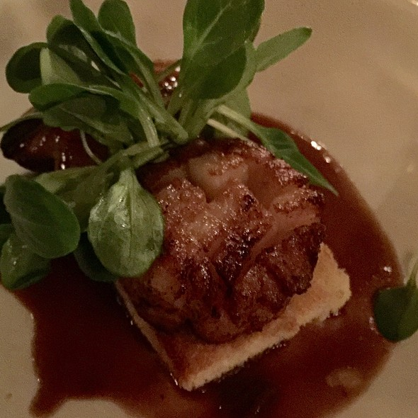 Foie Gras And Scallop With Argan Oil - Les Halles Park Avenue, New York, NY