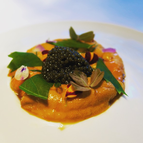 Santa Barbara Sea Urchin With Dashi Gelee And Osetra Caviar - Caviar Russe, New York, NY