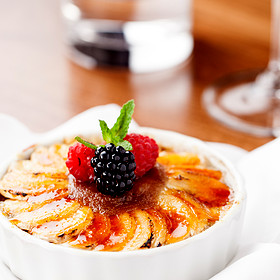 Bananas Foster Creme Brulee - Spencer's For Steaks and Chops, Salt Lake City, UT