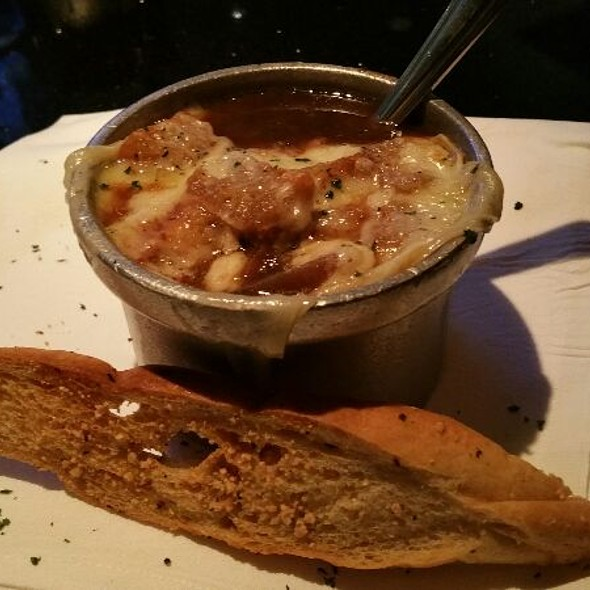 French Onion Soup With French Bread - Mastro's City Hall Steakhouse, Scottsdale, AZ