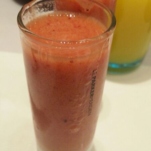 Complentary Strawberry Smoothie - Norma's at Le Parker Meridien, New York, NY