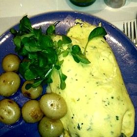 Spinach Cheese Red Pepper Chicken Omlet - Norma's at Le Parker Meridien, New York, NY