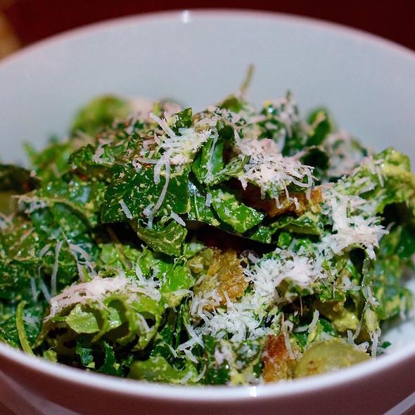 Kale salad, grilled grapes, pecorino, Sicilian pistachio vinaigrette - Marion Street Cheese Market, Oak Park, IL