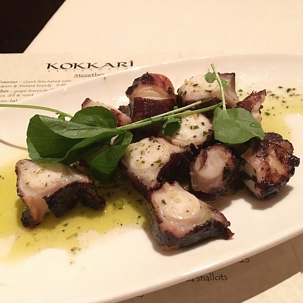 Grilled Octopus - Kokkari Estiatorio, San Francisco, CA