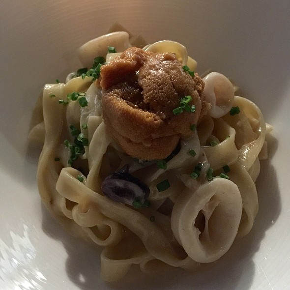 Homemade Fettucine With Uni - Dieci, New York, NY