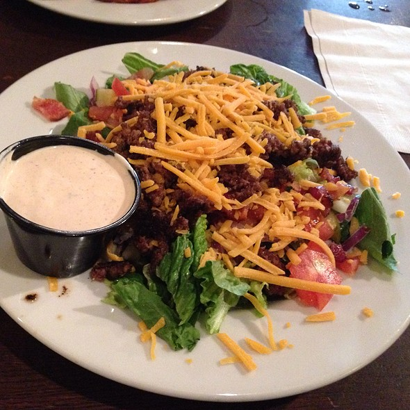Bacon Cheeseburger Salad  - Moon River Brewing Company, Savannah, GA