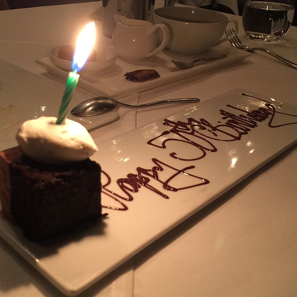 50th birthday cake - Alexander's Steakhouse - SF, San Francisco, CA