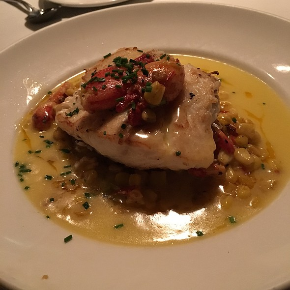Fresh Halibut With Lobster Succotash - Tavern at the Park, Chicago, IL