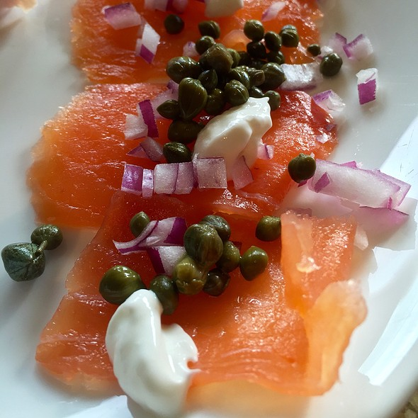 Smoked Salmon With Creme Fraiche, Capers, And Red Onion - Core Kitchen and Wine Bar at The Ritz-Carlton Dove Mountain, Marana, AZ