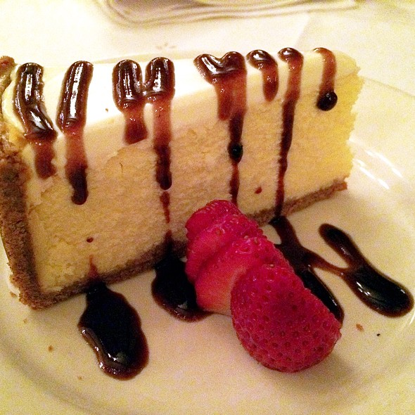 Cheesecake With Fresh Strawberries - The Sycamore Inn Prime Steak House, Rancho Cucamonga, CA