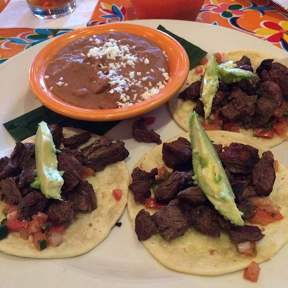 Steak Tacos With Refried Beans - Gonza Tacos y Tequila - North Raleigh, Raleigh, NC