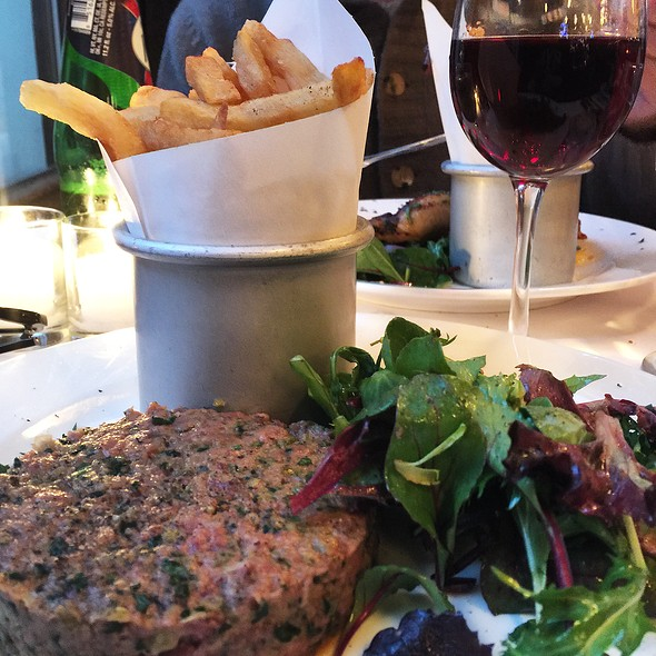 Steak Tartare with Pomme Frites - Felix, New York, NY