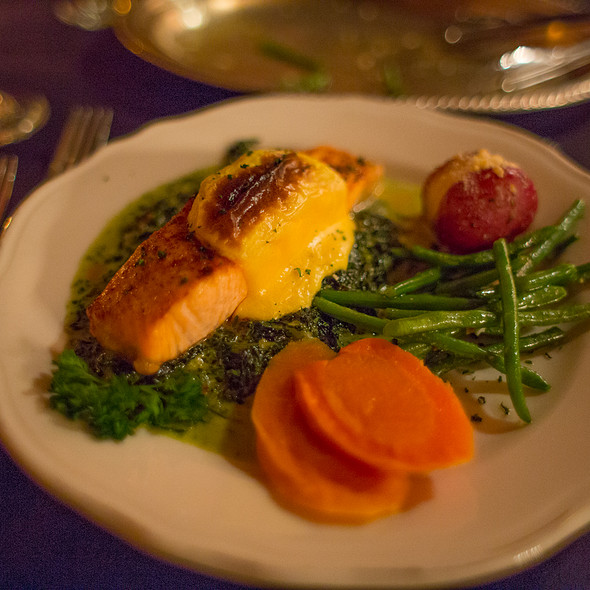 Baked Salmon - The Library Restaurant - Myrtle Beach, Myrtle Beach, SC