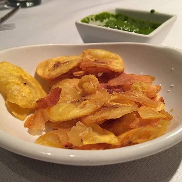 Plantain Chips With Serrano-cilantro Salsa - Mango Peruvian Restaurant, St. Louis, MO