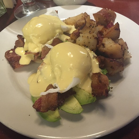 Eggs Benedict with Bacon and Avocado - Cupping Room Cafe, New York, NY