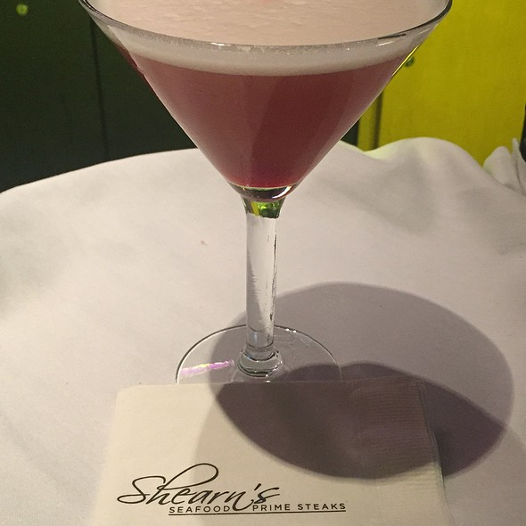 French Martini - Shearns Seafood and Prime Steaks, Galveston, TX