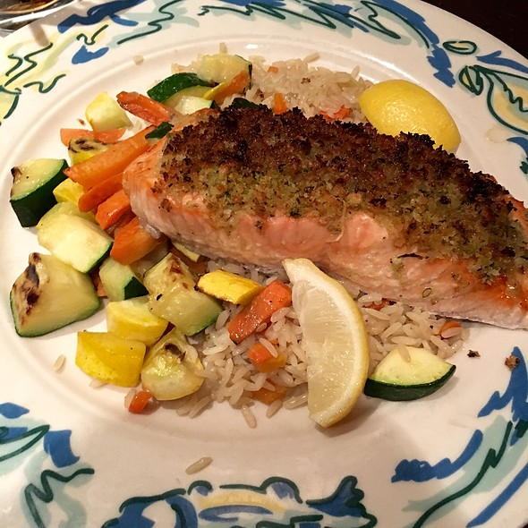 Pesto Crusted Salmon - The Sole Proprietor, Worcester, MA