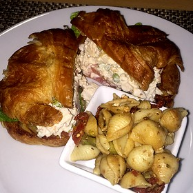 Chicken Salad on Croissant - Croissants Bistro and Bakery, Myrtle Beach, SC